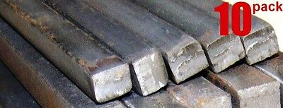 """Metals 1/4"""" Solid Square Bars Hot Rolled Mild Steel Wrought Iron Fabricating Cut"""