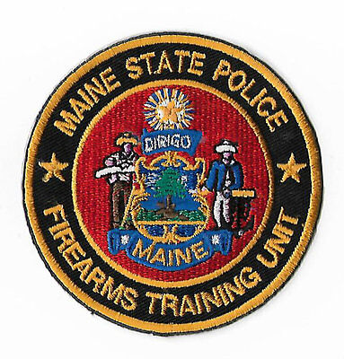 Maine State Police Firearms Training Unit Embroidered Iron / Sew on Badge Rare