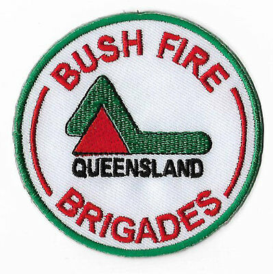 Bush Fire Brigades Queensland Embroidered Iron / Sew on Badge Services Rare