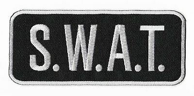 SWAT Patch Embroidered Iron / Sew on Badge S.W.A.T. Tactical Vest Jacket Costume