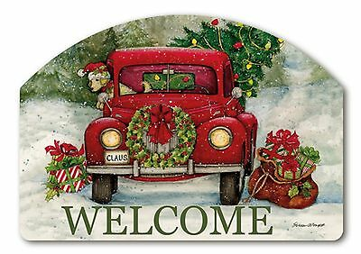 Bringing Home the Tree Christmas Yard DeSigns Interchangeable Insert Welcome