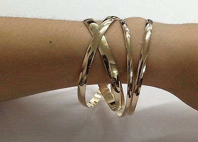 Yellow Gold Bangles 9ct Solid - Ladies