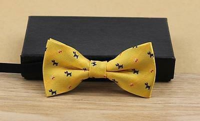 Baby/Toddler/Young Boy's Doggy Bow Ties w/Black Suspenders - 2 Color Styles