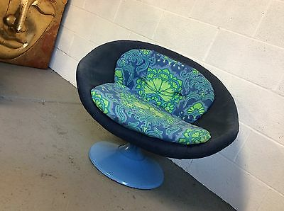 1960's Mid Century Overman Swedish Swivel Chair