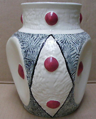 Stunning  White & Grey Burleigh Ware 3 Sided Vase 1950's/60's