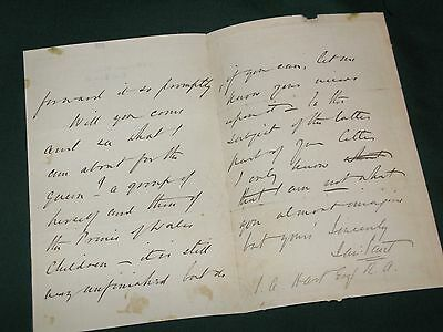 Autograph letter James Sant artist on painting the queen