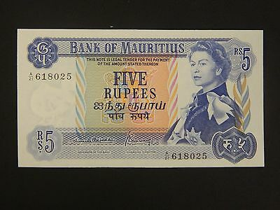1967 Bank of Mauritius 5 Rupees! UNC. See Listing!