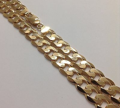 375 Solid 9ct Yellow Gold Curb Chain Link Bracelet & Necklace 9 - 32 Inch