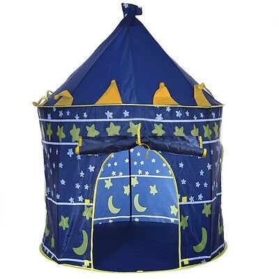 Portable Foldable Play Tent Prince Kids Children Castle Cubby Play House Outdoor