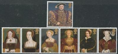 GB MNH STAMP SET 1997 Henry VIII & Wives SG 1965-1971 10% OFF FOR ANY 5+