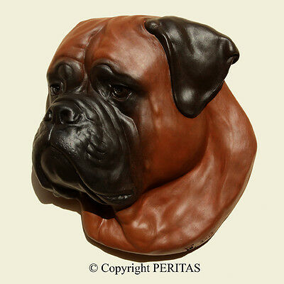 Bullmastiff dog molosser Bull mastiff PERITAS wall sculpture statue fine art