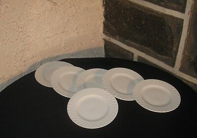 """""""Burgess&Leigh"""" Ironstone Queens white dish lot of 6 Small plates 6 1/8"""