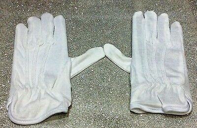 Carnevale Halloween Guanti Corti Bianchi Mago Clown Trooper White Gloves