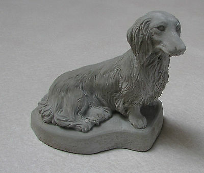 Concrete Long Hair Dachshund Statue Or Use As A Monument