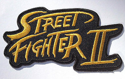 Street Fighter 2 Patch Embroidered Iron on Badge Costume Ryu Ken Bison Vega SNES