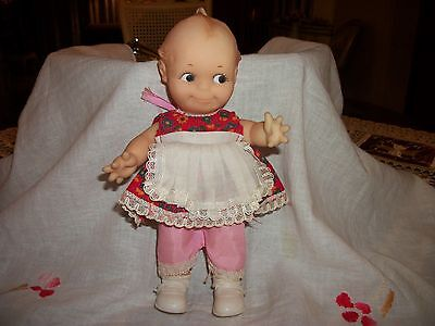 """Vintage Cameo 78 Kewpie Doll 8"""" with Dress Pantaloons Socks and Shoes"""