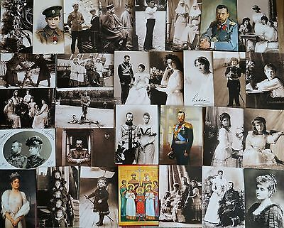 30x POSTCARDS! RUSSIAN ROYAL FAMILY! ROMANOVS! EMPEROR NICHOLAS II ALIX OF HESSE