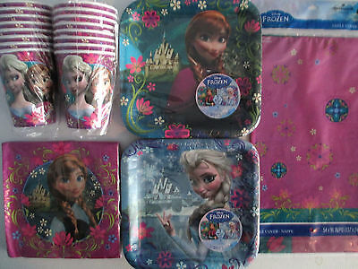 FROZEN Disney  Birthday Party Supply Kit Pack for 16