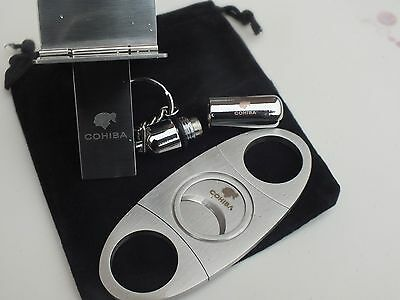 Cohiba Stainless Steel Stylish Smokers Cigar Pocket Cutter Guillotine Gift