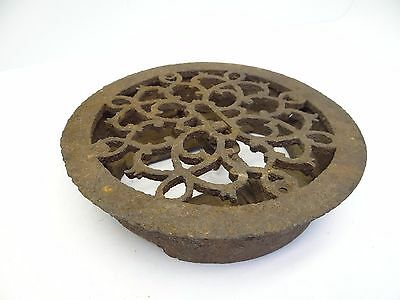 Antique Metal Iron Circular Round Architectural Hardware Wall Vent Heating Grate
