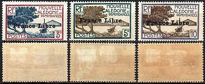 Nouvelle Caledonie France Libre Overprint Hinged
