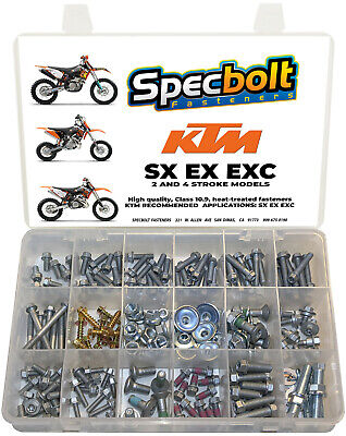 SPECBOLT 296pc Bolt Kit for KTM SX EX EXC XC 65 85 150 125 250 300 520 525 530