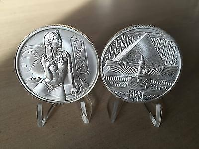 Cleopatra 2 troy ounce 999 Silver bullion Ultra High Relief Round coin