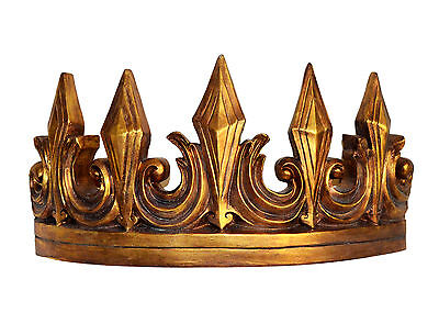 Antique Style Gold Bed Crown | Victorian Wall Tester Hanging Princess