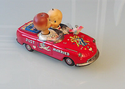 "Blechspielzeug Japan alter Citroen DS  ""JUST MARRIED""  Battery Operated"