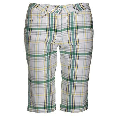 Chervo Glory Ladies Golf Shorts White/Green Size 14 (42)