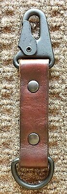 Heavy Duty Brown Leather Key Fob with  HK Clip