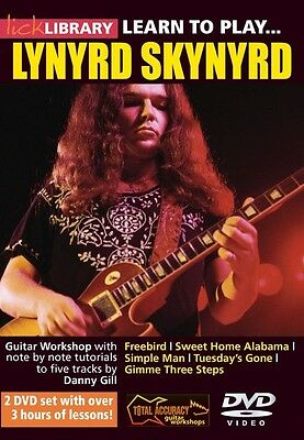 Lick Library LEARN TO PLAY Three Guitar Line-up LYNYRD SKYNYRD Video Lessons DVD