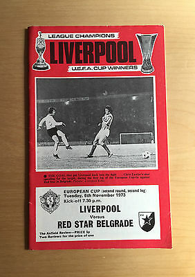 LIVERPOOL v RED STAR BELGRADE : European Cup 6th November 1973 2nd Rnd 2nd Leg