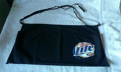Miller Lite Beer Barmaid Apron / Pouch Black In Color