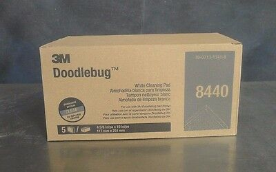 3M 8440 Doodlebug White Cleaning Pad Box of 5 NEW