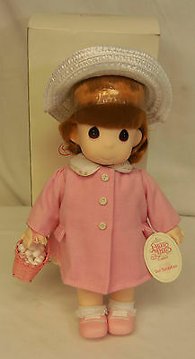 "1994 Precious Moments WINNIE Spring Time 12"" Doll with EASTER Basket NEW in BOX"