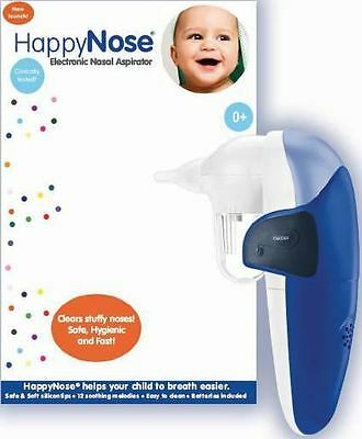 Happynose electronic nasal aspirator clears stuffy noses