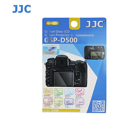 JJC GSP-D500 Optical GLASS LCD Screen Protector Film For Nikon D500 Camera Cover