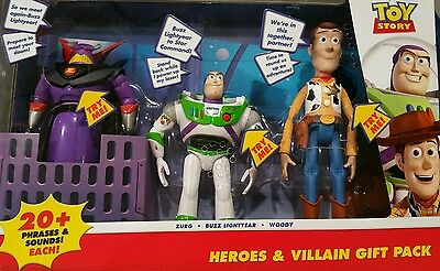 Toy Story Talking Figure 3 pack Woody, Buzz Lightyear and Zurg Gift Pack Set
