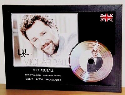 Michael Ball Signed Photo/silver Disc Presentation