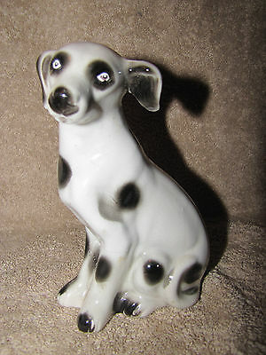 Vintage Ceramic DALMATION Dog Hand Painted Figurine Made in Brazil