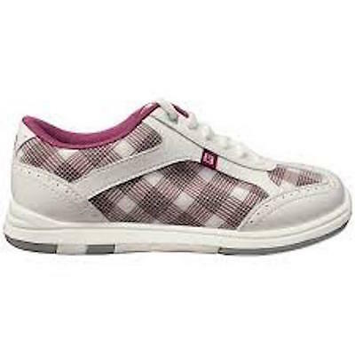 New Brunswick Women's Plaid Grey Orchid Bowling Shoes Size 8 Universal Soles