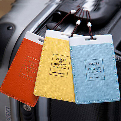 5X Colorful Travel Luggage Tags Tag ID Name Card Holder Bag Suitcase Label