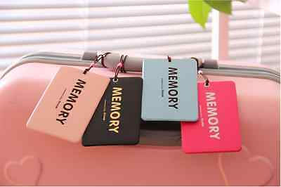 4X Colorful Memory Travel Luggage Tags Tag ID Card Holder Bag Suitcase Label
