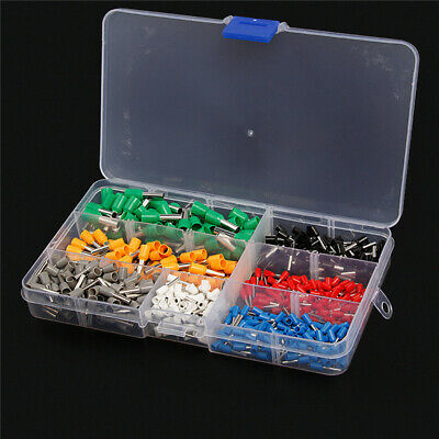 600Pcs Wire Copper Crimp Connector Insulated Cord End Terminal 22-10AWG Kit Set