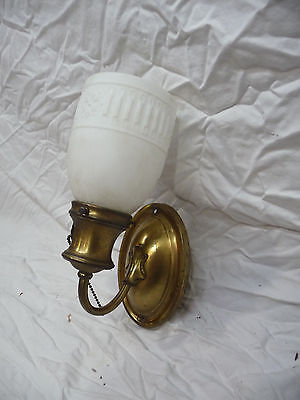 Antique Craftsman Style Wall Sconce - C. 1915 Brass Architectural Salvage