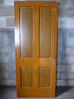 Antique Victorian Style Door - C. 1895 Fir Four Panel Architectural Salvage