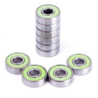 Portable 8PCS Stainless Steel Inline Skateboard Bearings For ABEC-9 608RS ILQ-9