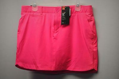 New Womens Size 8  Under Armour heat gear hot pink polyester golf skorts