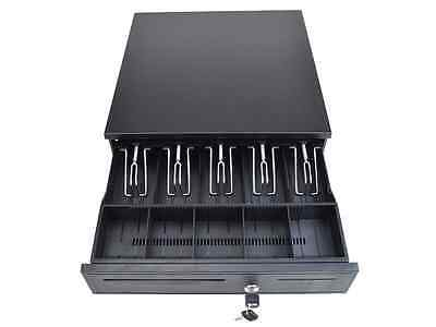 TMS Cash Register Drawer Box 5 Bill 5 Coin Tray Compatible Works with POS Printe